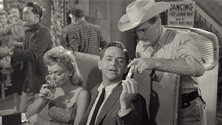 Yvette Vickers, William Hudson, and Frank Chase