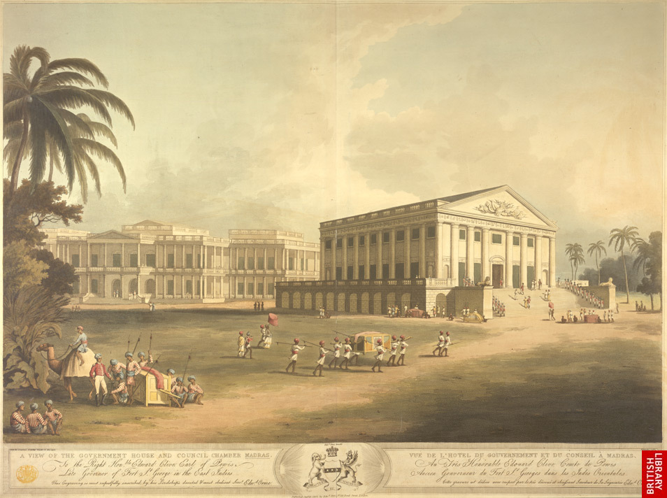 [Aquatint+of+Madras+(now+Chennai)+in+south+India,+published+by+Edward+Orme+in+1807+and+part+of+King+George+III]