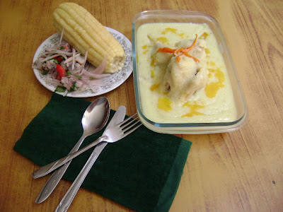 Comida peruana : Boda de gallina.