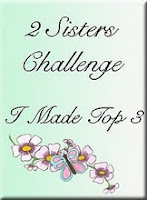 My Christmas easel card made Top 3 at 2 Sisters