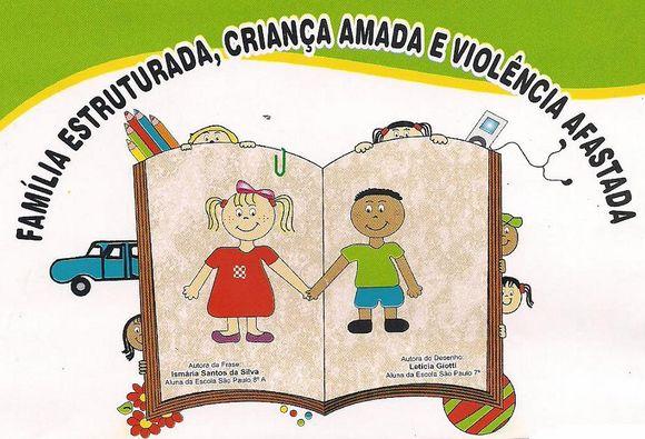 Escola Municipal São Paulo Passeata Do Dia Nacional Do Combate Ao