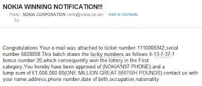 Nokia Email Scam