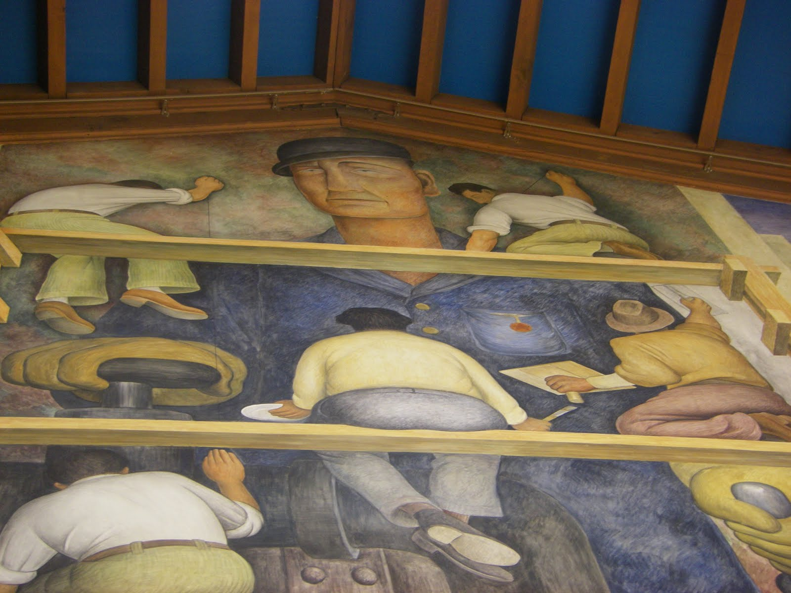 Making a fresco caffe 39 the end of time for Diego rivera mural san francisco art institute