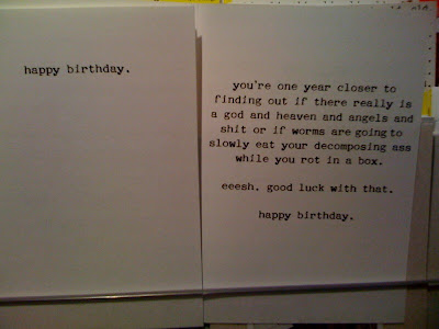 Random Ramblings Worst Birthday Card Ever