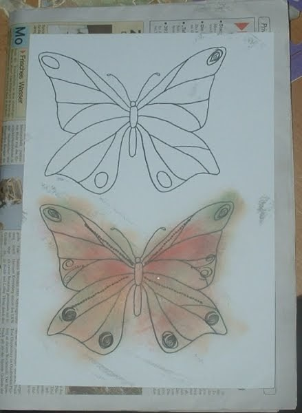 Tessi\'s Bastelanleitungen: Schmetterling aus Eisstiel