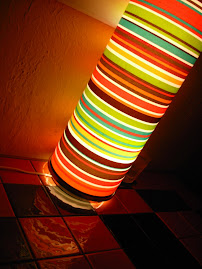 Colourful Lamp in a Mexican Restaurant