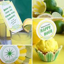 Spiked Lemonade Party Favors