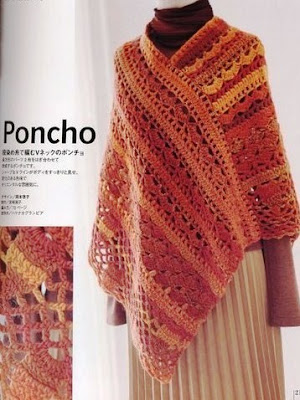 PONCHO EM CROCHE