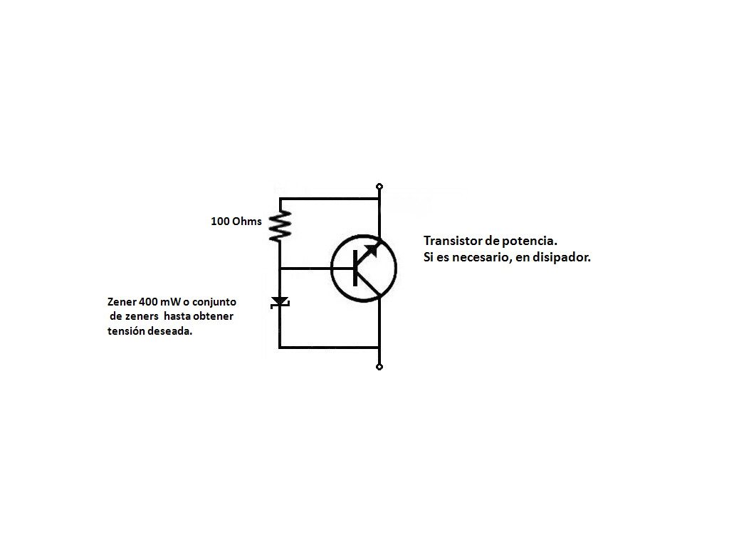 Circuito Zener : Información electrónica.: zener de potencia.