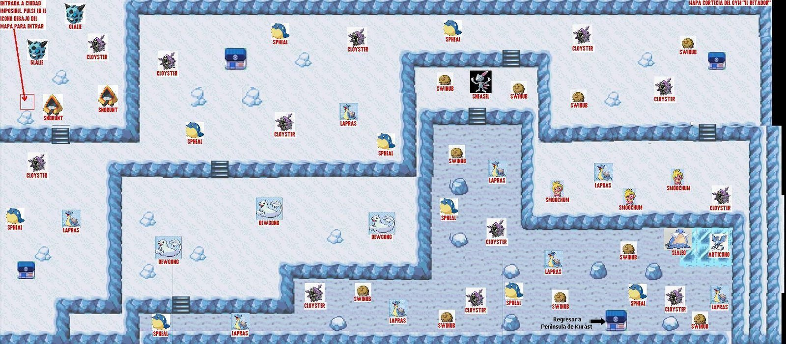mapas de pokemon negro Freezeland