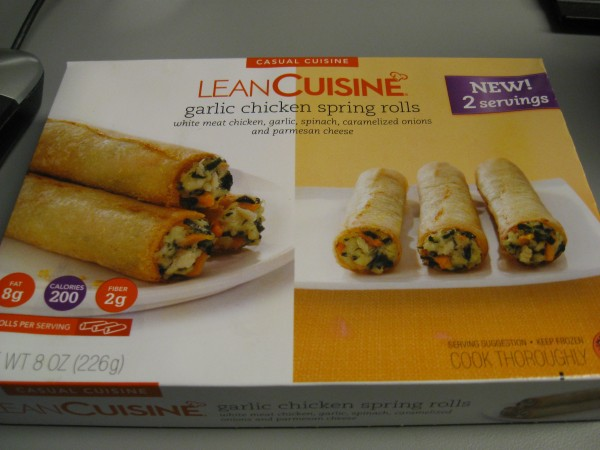 Man what a day lean cuisine garlic chicken spring rolls for 10 day try it lean cuisine