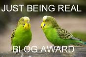 thankyou to just being r eal for this blog award