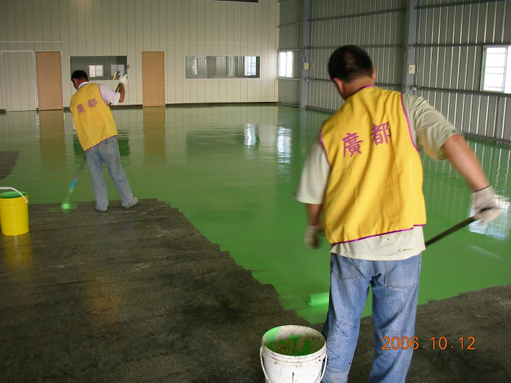 EPOXY環氧樹脂地板防塵地板淡綠色#01服務電話0932-518699