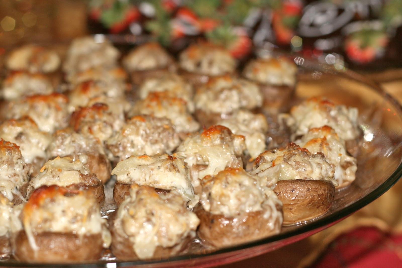 Spicy Sausage Stuffed Mushrooms Recipe — Dishmaps