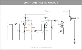 Epiphone Valve Junior Stock Schematic R6 R7