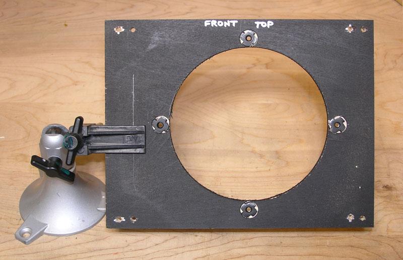 cutting down the baffle board in a Fender Champion 600
