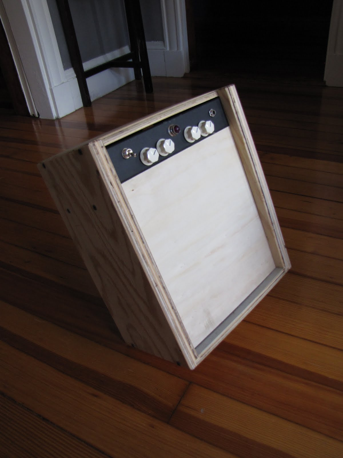 low wattage tube amp plywood mockup