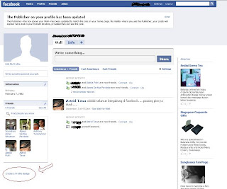 Tutorial Facebook pasang badge