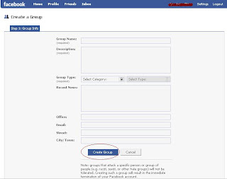 Create new Group di Facebook