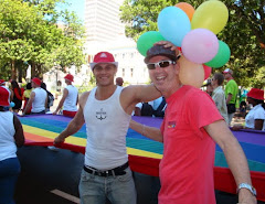 Dave and Llewellyn in Cape Town's Pride 2010