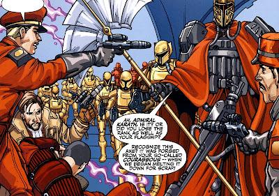 Karath tells Mandalore the Ultimate to step away from Jedi Knight Alek.