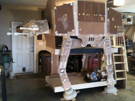 Star wars imperial walker loft bed for Bedroom simulator ikea
