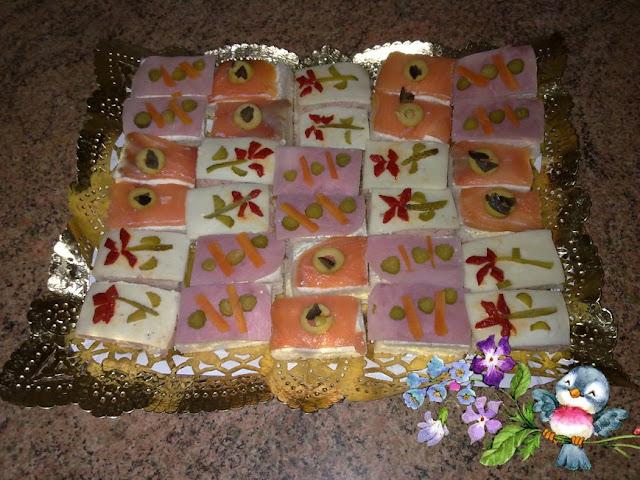 Canapes para navidad cocina for Canape para navidad