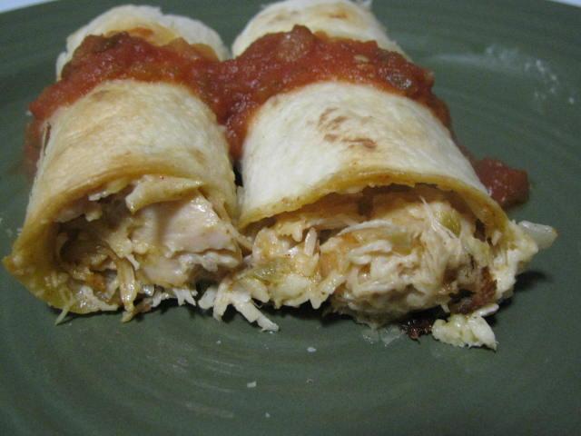Anissa's Kitchen: Baked Creamy Chicken Taquitos