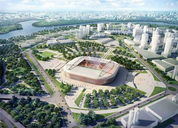 Russian stadiums for the World Cup in 2018, More images after the break.