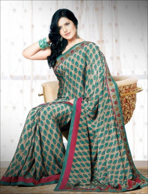 Zarine+Khan+Saree+Photoshoot+ +006 Karikalan Movie Actress Zarine Khan in Saree