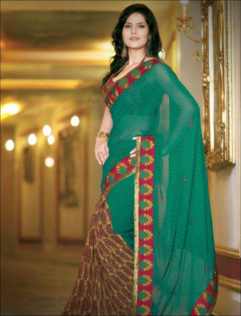 Zarine+Khan+Saree+Photoshoot+ +009 Karikalan Movie Actress Zarine Khan in Saree