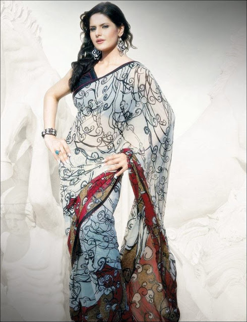 Zarine+Khan+Saree+Photoshoot+ +010 Karikalan Movie Actress Zarine Khan in Saree