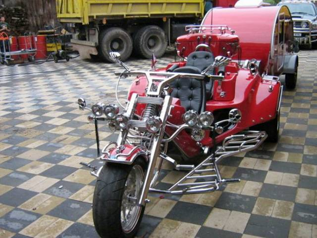 Mobile Home  Motorcycle Seen On www.coolpicturegallery.us