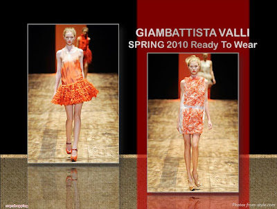 Giambattista Valli Spring 2010 Ready To Wear orange ruffles dress