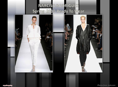 Narciso Rodriguez Spring 2010 Ready To Wear coat and pants