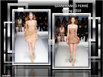 Gianfranco Ferre Spring 2010 Ready To Wear rust chiffon dresses