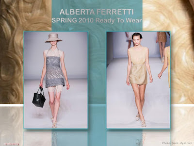 Alberta Ferretti Spring 2010 Ready To Wear short chiffon dress