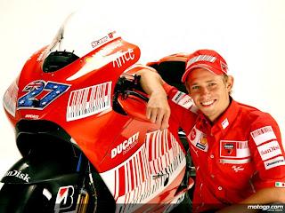 the Ducati rider Casey Stoner