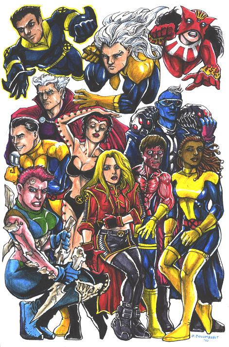 Uncanny X-Men: Marvel Girl, Cable, X-Man, Forge, Jubilee, Nightcrawler,