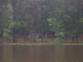 A pic of our camp site taken from the canoe.
