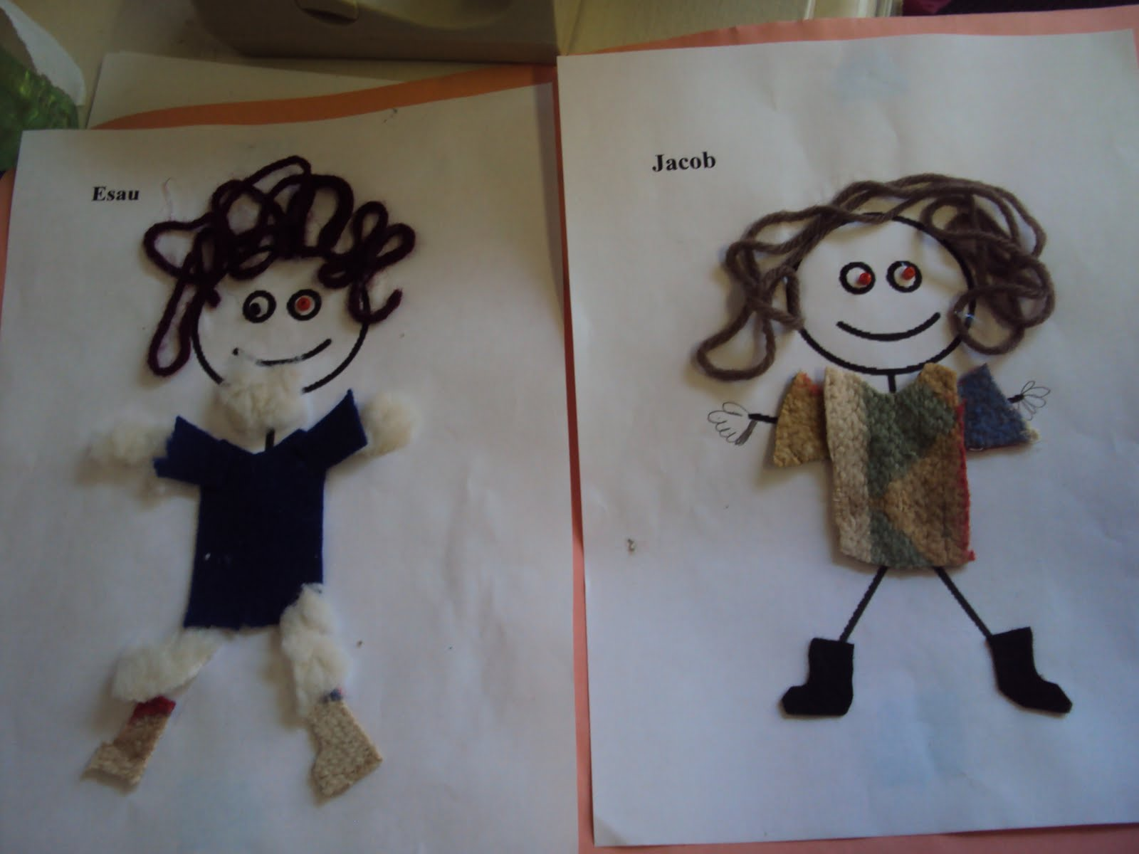 Jacob and esau dolls cows go moo and ducks go quack for Jacob and esau crafts