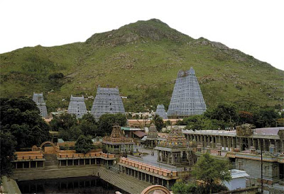 Temple and mountain