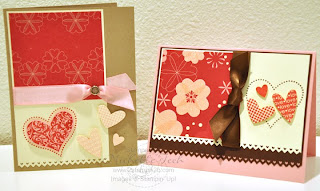 2stampis2b Michelle Tech Stampin Up card kits for sale January I Heart Hearts