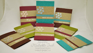 2stampis2b Michelle Tech Stampin Up card kits for sale December Simple Snowflake