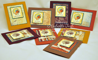 2stampis2b Michelle Tech Stampin Up card kits for sale October Gobble Gobble