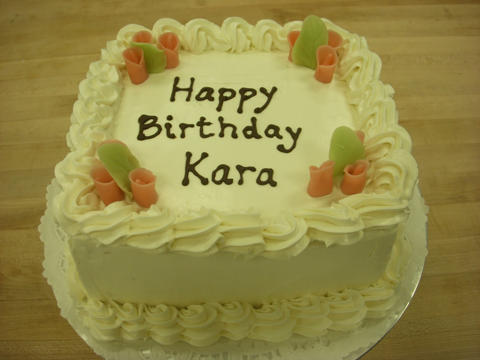 Live Well Eat Often Snack Much Square Birthday Cake