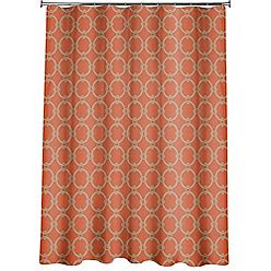 Because Chocolate Can't Get You Pregnant!!!!: Orange Shower Curtain
