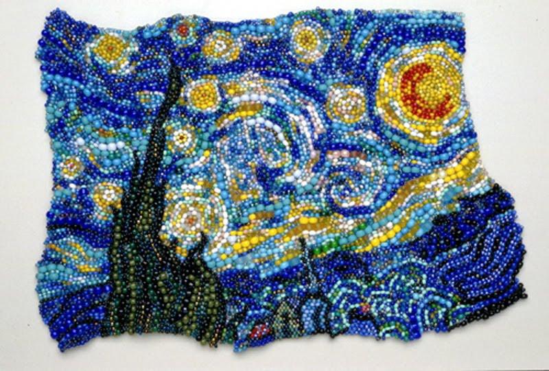 Potomac Fiber Arts Gallery Beadwork In Brick Stitch