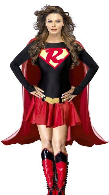 Rakhi Sawant Dresses in red Mini Skirt in Super Girl Dress
