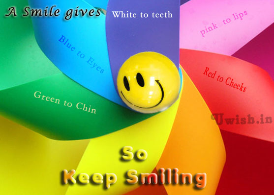 Smile E greeting cards and wishes with colors of smile.